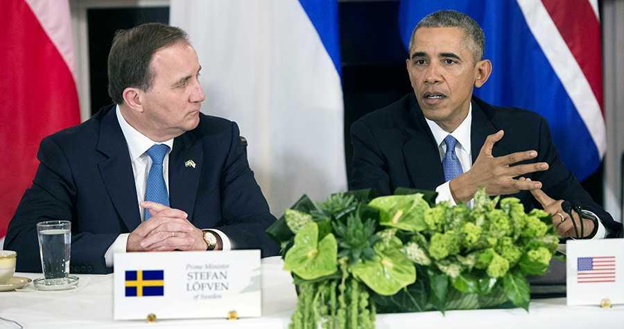Stefan Löfven och Barack Obama kallar till toppmöte om flyktingkrisen.