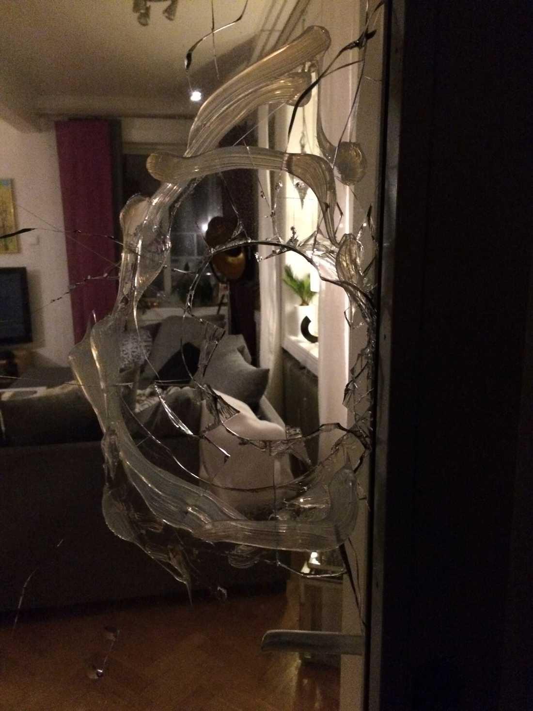 Inbrottstjuvarna trodde inte att någon var hemma i villan.