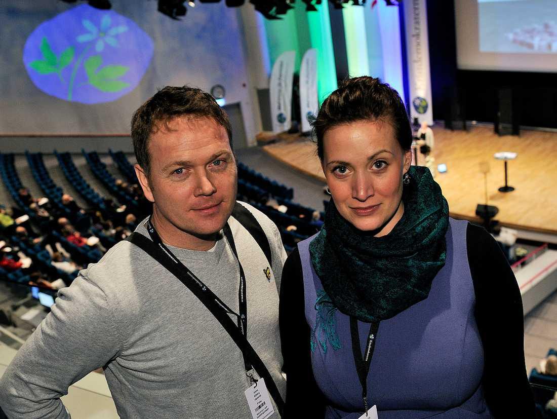 Aftonbladets fotograf Jonas Bilberg och reporter Camilla Sundell.