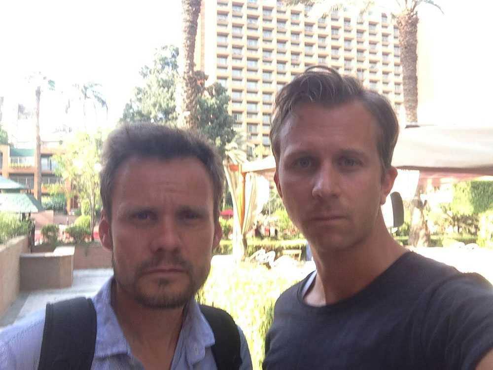 Aftonbladets Jerker Ivarsson och Erik Wiman på plats i Kairo.