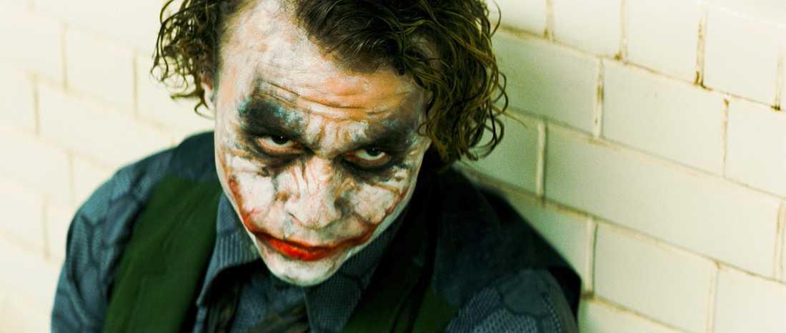 """I Oscars-vinnande rollen som Jokern i """"Batman: The Dark Knight""""."""