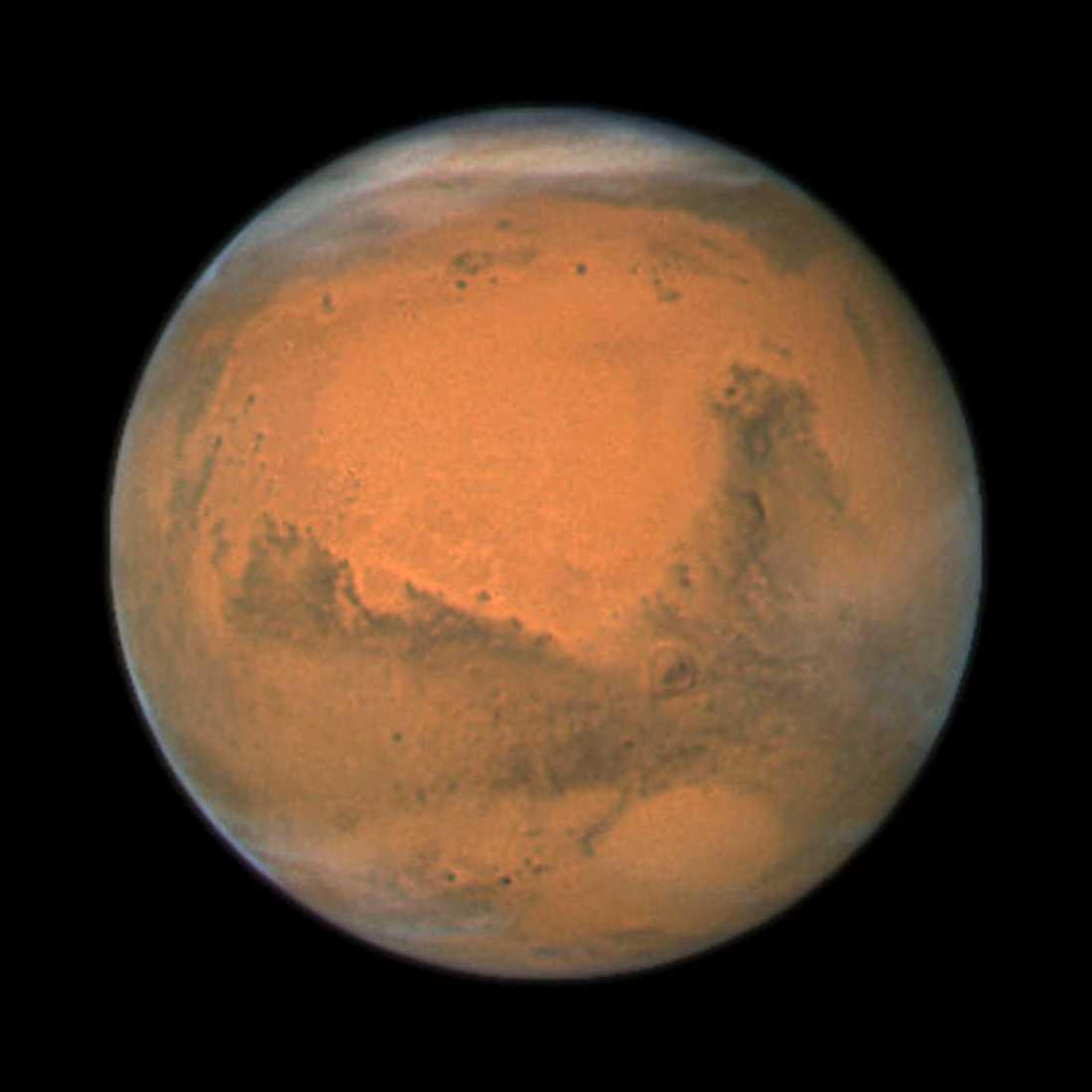 Planeten Mars, fotograferad av rymdteleskopet Hubble vid ett tidigare tillfälle. Arkivbild.