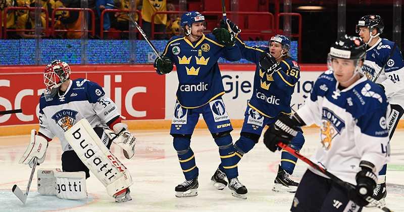 Tre Kronor fick jubla mot Finland i Globen.