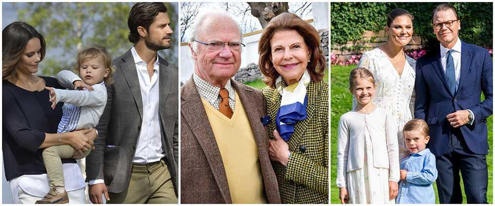 Kungafamiljen firar påsken på var sitt håll även i år.