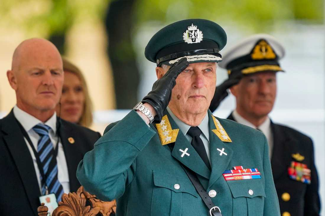 Norges kung Harald under 75-årsevenemangen i Oslo på fredagen.