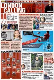 Dagens London Calling-sida i Sportbladet.