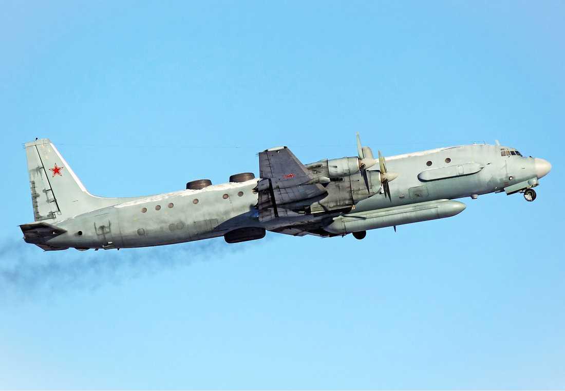 Det ryska spaningsflygplanet flög mellan Öland och Gotland under påskhelgen.
