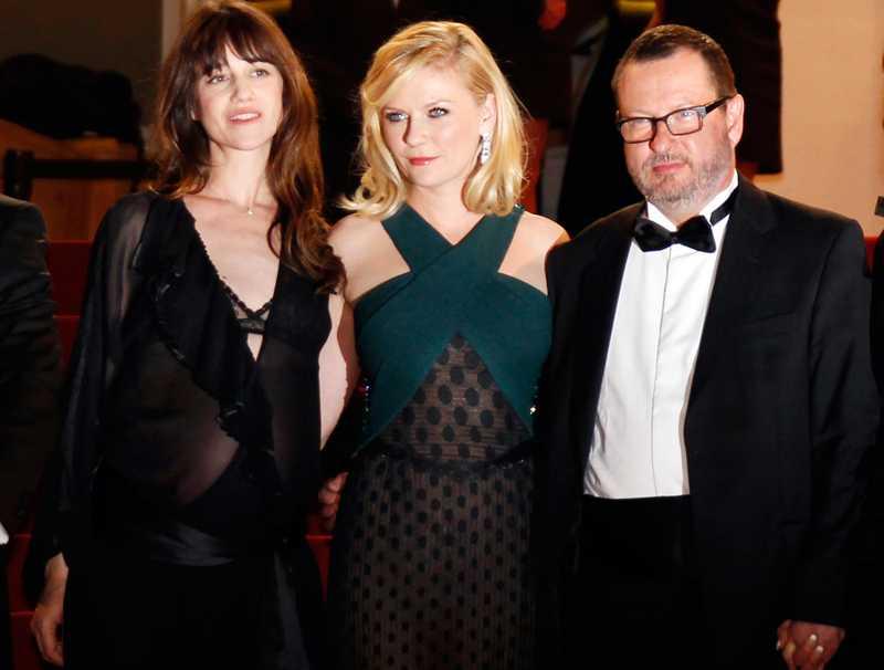 Lars von Trier med Charlotte Gainsbourg och Kirsten Dunst.