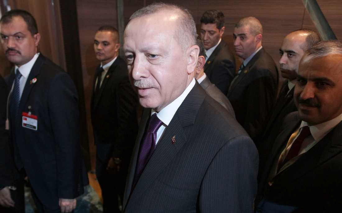 Turkiets president Recep Tayyip Erdogan. Arkivbild