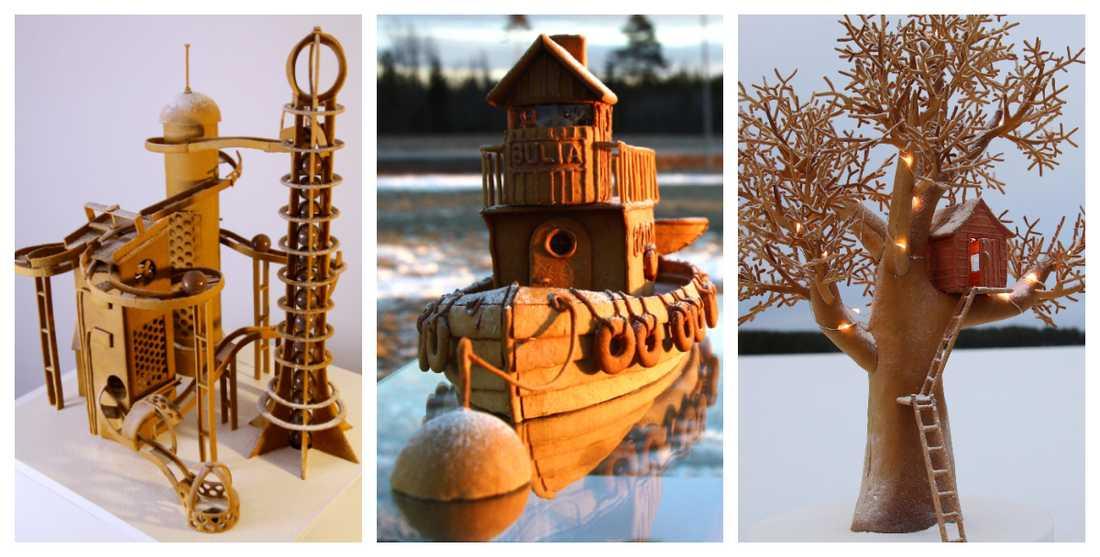 Chokladfabriken är årets bygge, tidigare år har bröderna bland annat byggt en båt och en trädkoja.