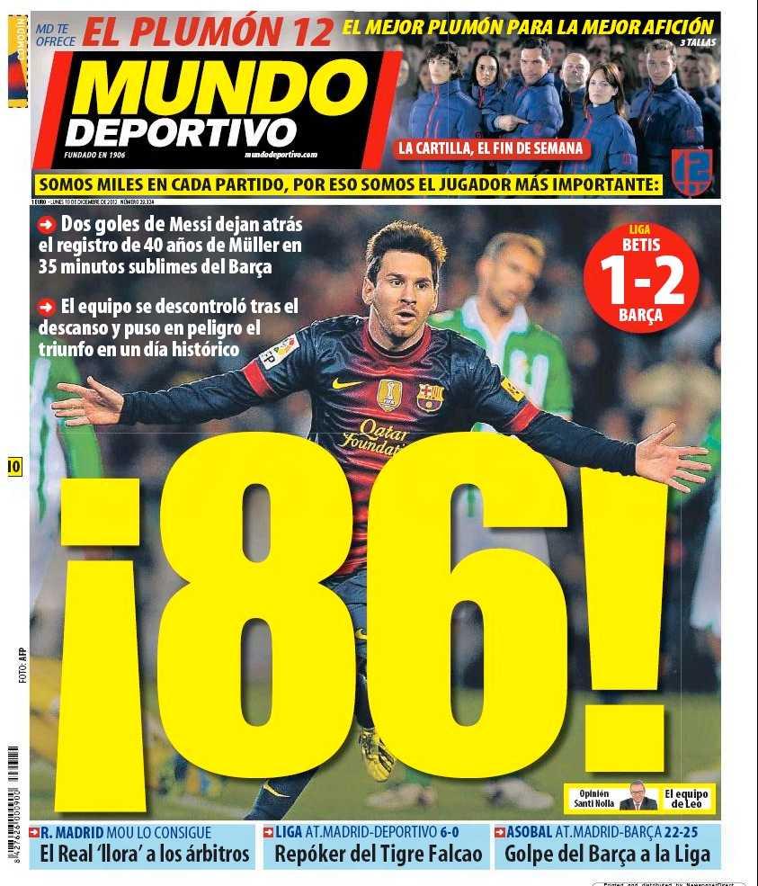 El Mundo Deportivos förstasida