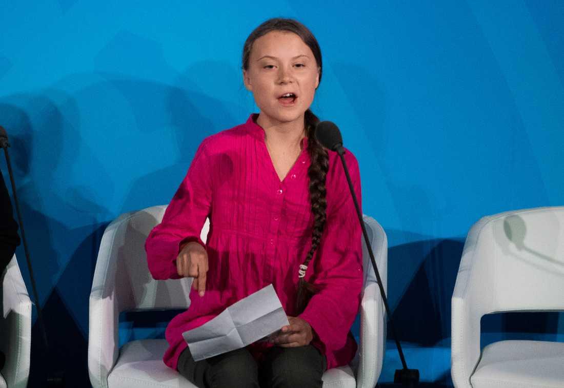 Greta Thunberg riktade stenhård kritik mot makthavarna på FN:s klimatmöte i New York.