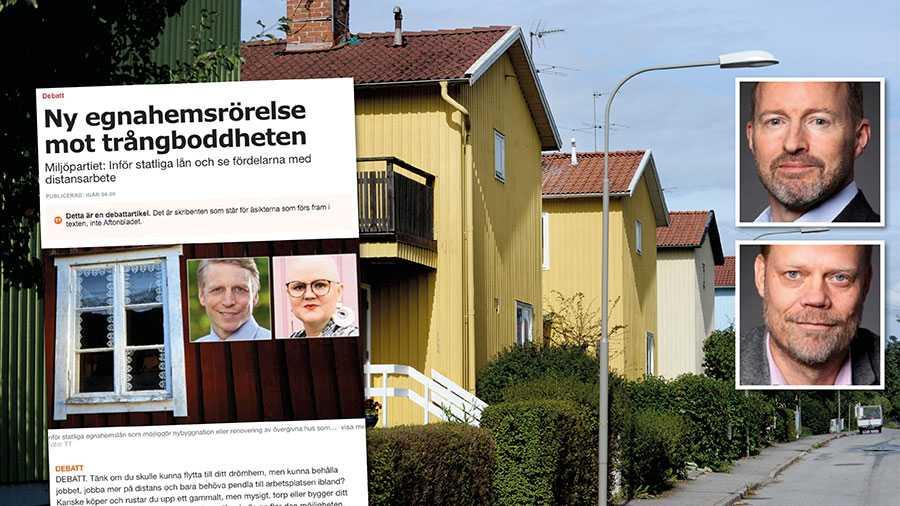 Trots att så många vill bo i småhus, och trots att vi har god tillgång på mark, har Sverige ett av Europas lägsta småhusbyggande. Det är ett allvarligt systemfel, skriver Trä- och möbelföretagen.