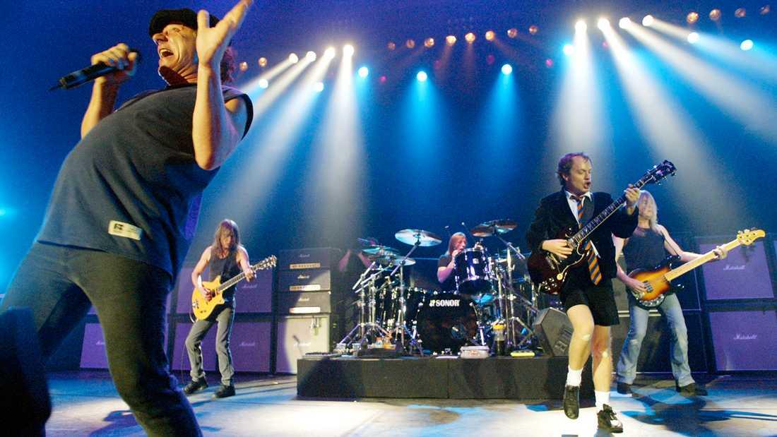 AC/DC på scen.
