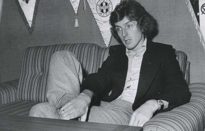 Roy Hodgson tog över som tränare för Halmstad BK 1976.