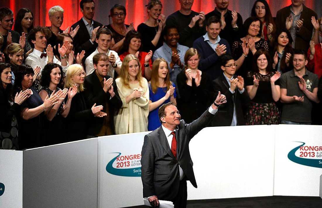 Stefan Löfven gjorde som Barack Obama och satte tummen i vädret innan sitt tal. Tummen upp får han även av allt fler i partiet efter kongressdagarna i Göteborg.