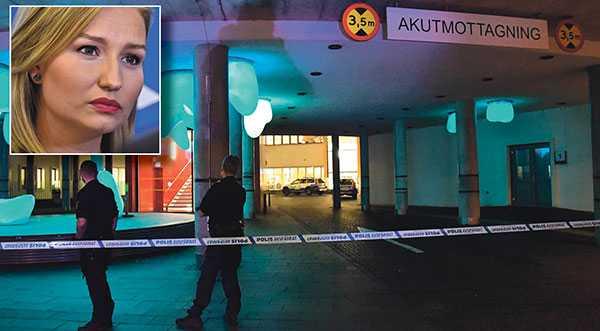 Polis spärrar av vid akuten i Malmö efter att en misstänkt skottskadad man förts till sjukhuset. De som hotar personal och patienter på sjukhus måste straffas både hårdare och tidigare. Vi föreslår därför en lag om besöksförbud på sjukhus, skriver Ebba Busch Thor.