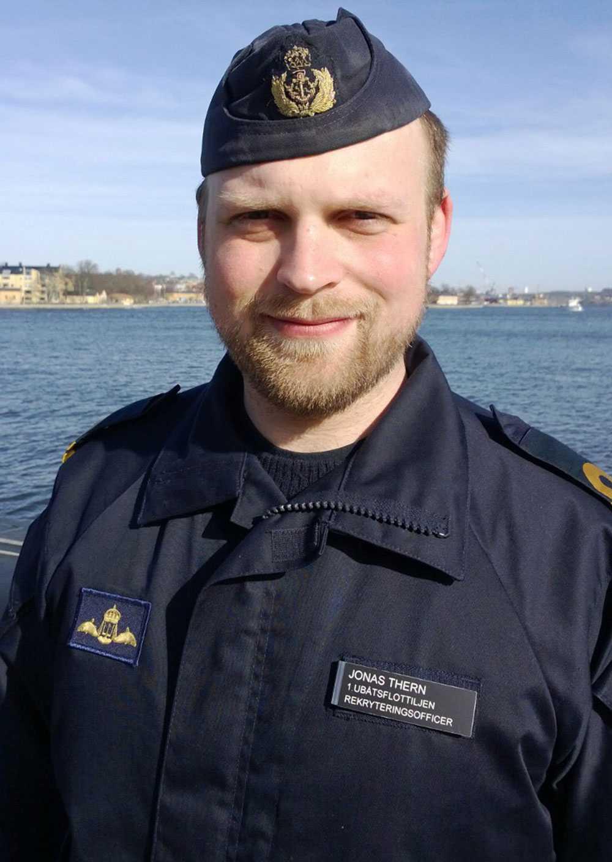 Jonas Thern, informations- och rekryteringsofficer vid Ubåtsflottiljen på Försvarsmakten.
