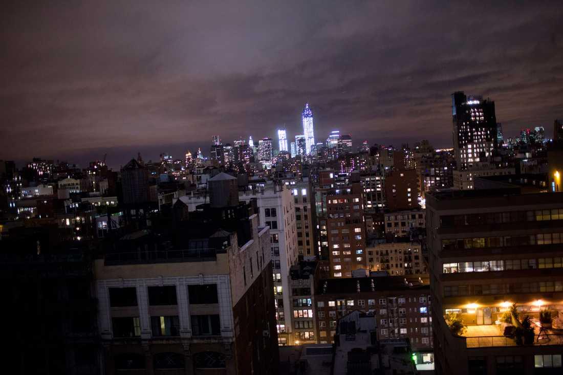 Ovädret närmar sig jättestaden New York.