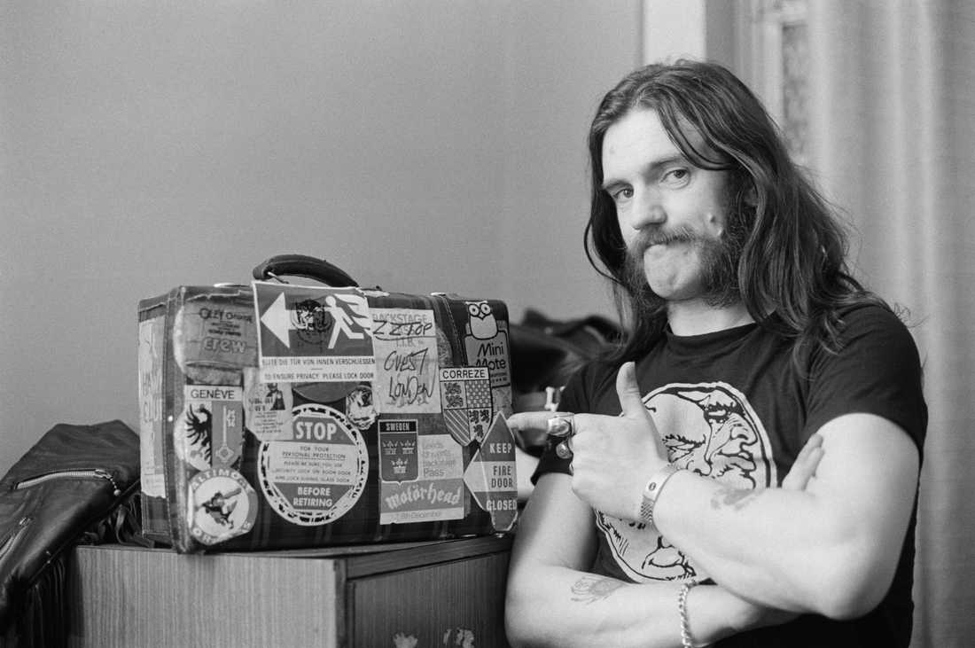 Lemmy backstage i Newcastle, 1982.