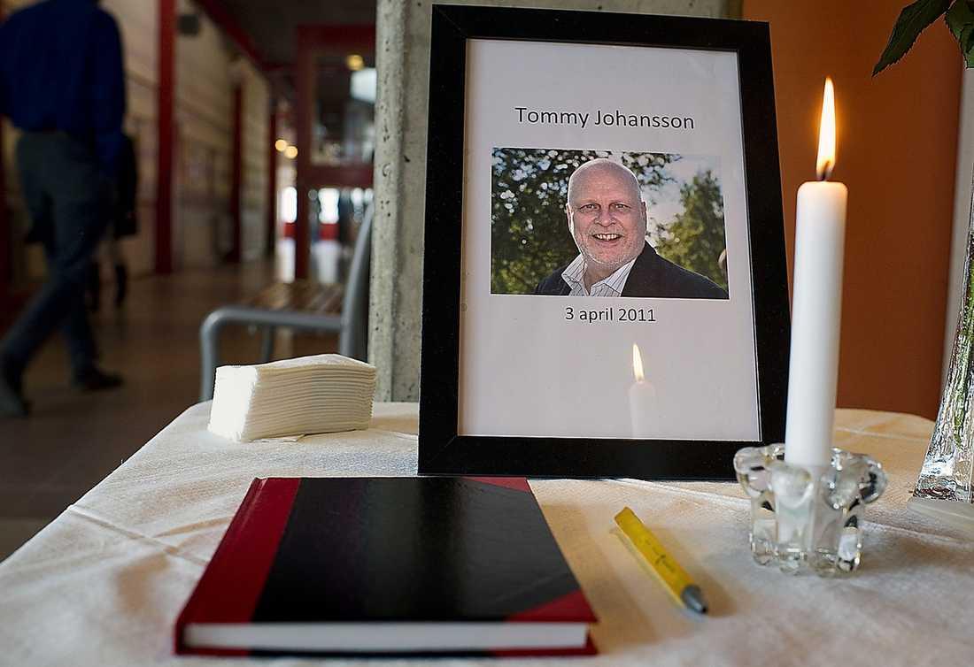 Ljuset brinner för Tommy Johansson på hans arbetsplats Björkhagsskolan.