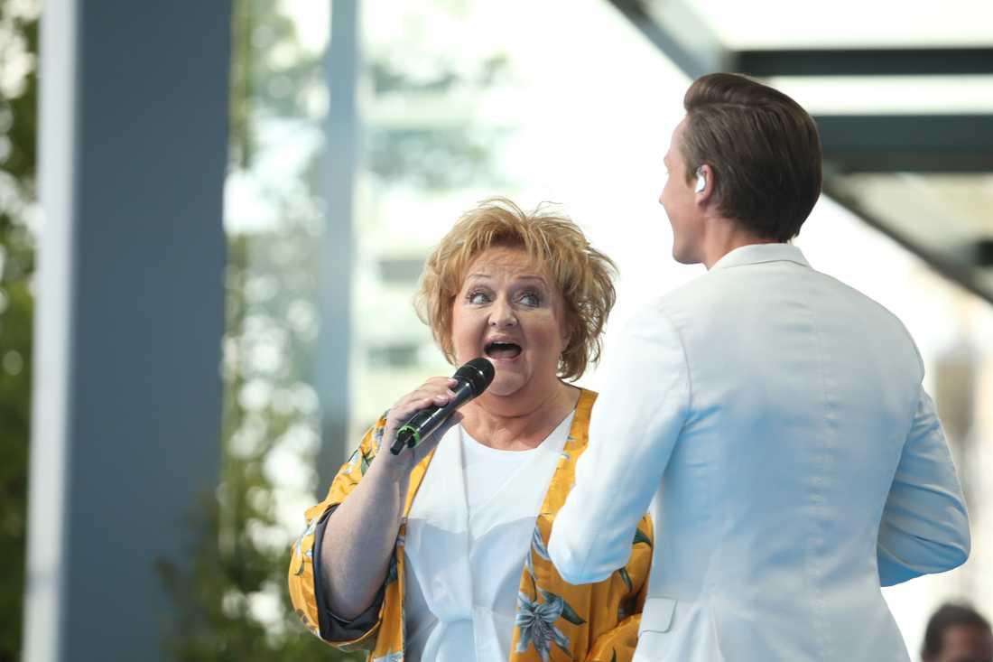 Flera av Lill-Babs klassiska låtar framfördes på Skansen.