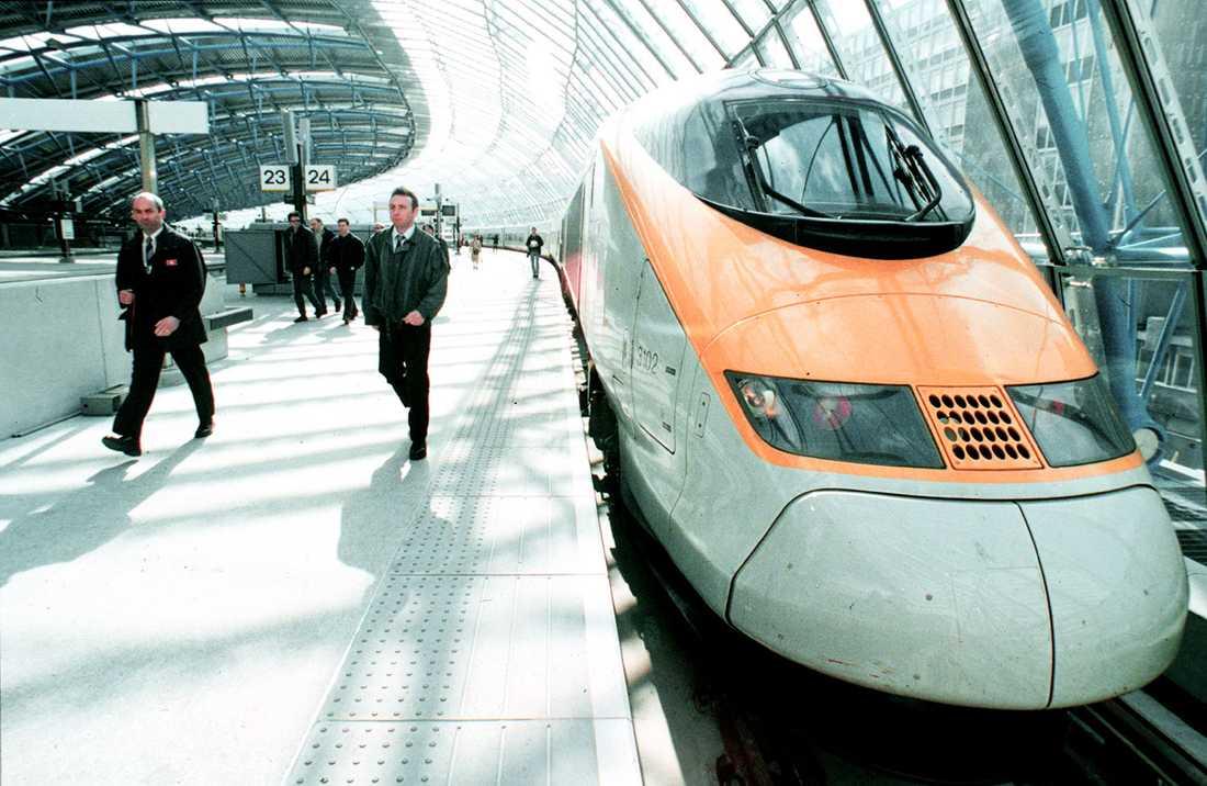 Eurostar-tågen började rulla 1994.