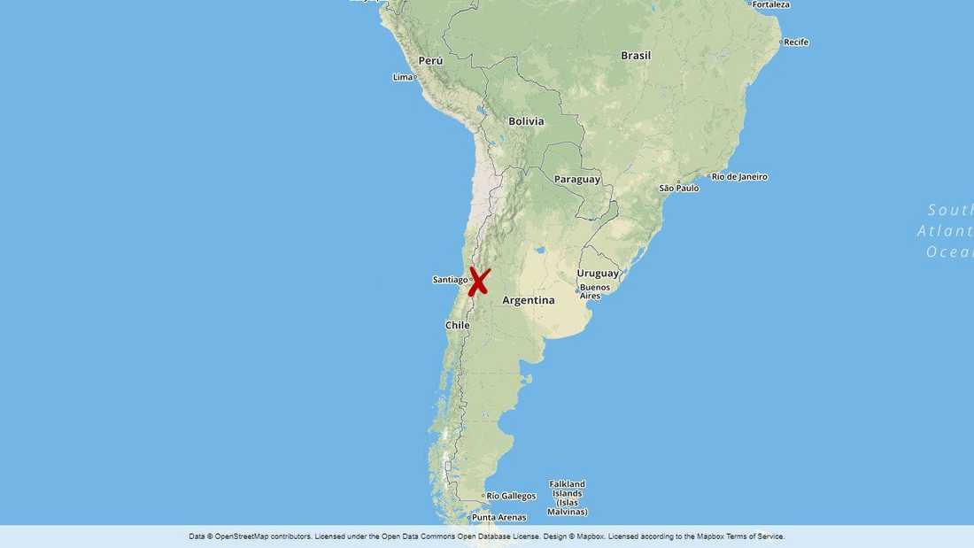 Härvan har rullats upp i västra Argentina.