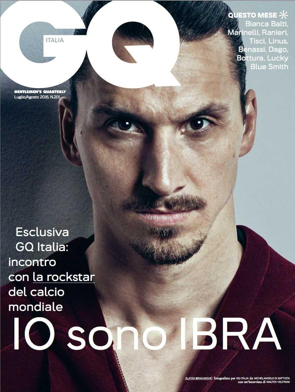 Zlatan på GQ:s omslag - där ryktet om Roma tog fart.