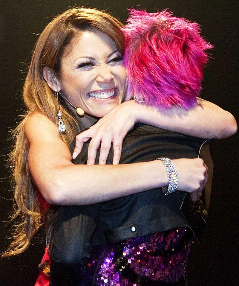 Tilde de Paula gav Liv en stor kram.