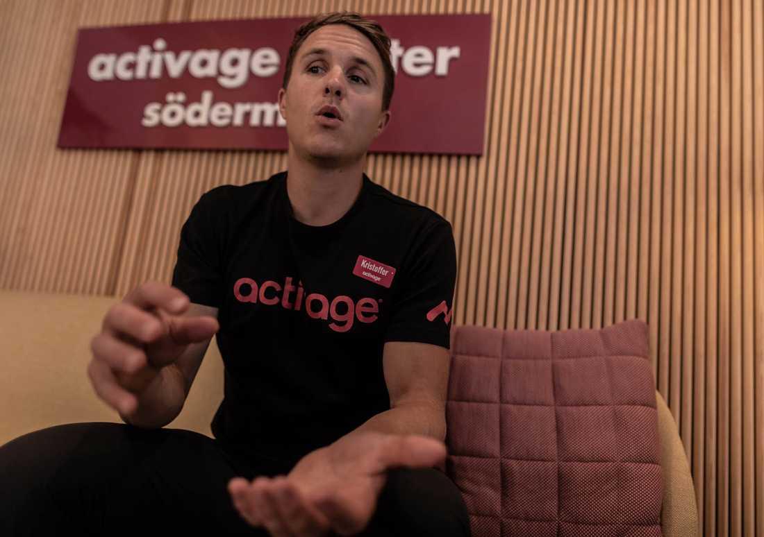 Kristoffer Sjöberg, personlig tränare, VD och en av ägarna till gymkedjan Activage, har varit med sedan starten på Södermalm 2016.