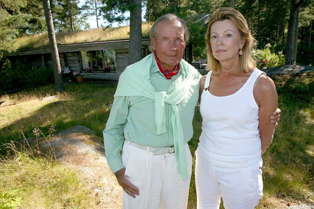 Henning Sjöström med sin fru Kerstin Sandels-Sjöström. Paret gifte sig 1968.