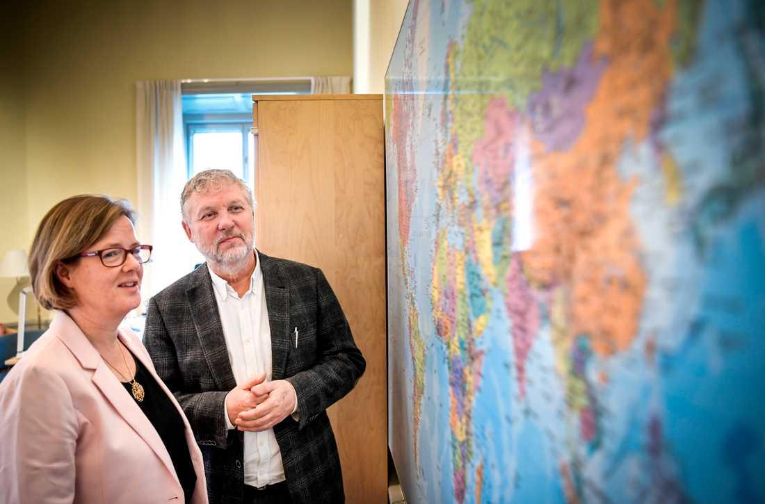 Behovet av humanitär hjälp fortsätter att växa, enligt både Sidas generaldirektör Carin Jämtin och biståndsminister Peter Eriksson (MP).