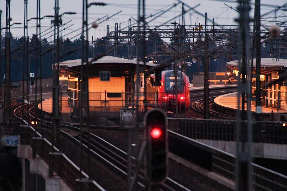 Tåget i Södertälje.