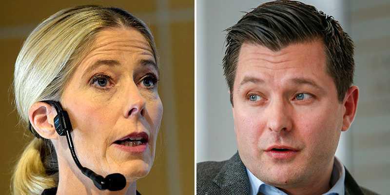 Maria Croon, vd på Svensk Travsport och Daniel Redéns juridiska ombud, Jesper Arvenberg är oense om den utredning förbundet gjort kring Propulsion.