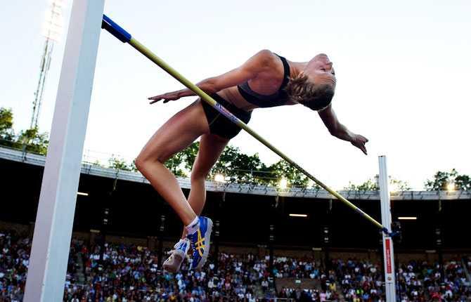Emma Green klarade enkelt ingångshöjden på 1,85.