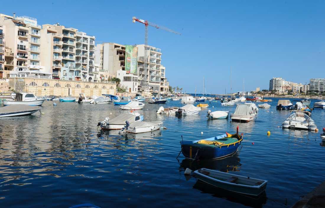Vy från Maltas huvudstad Valetta. Arkivbild.