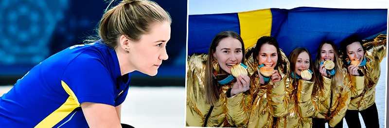 Sara McManus tog OS-guld med Lag Hasselborg i Pyeongchang.