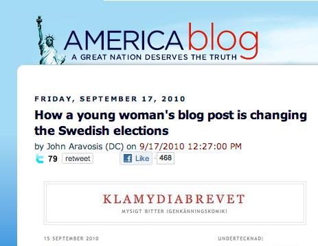 Bloggfenomen Nu skriver även amerikanska bloggare om Emelie och hennes mamma.
