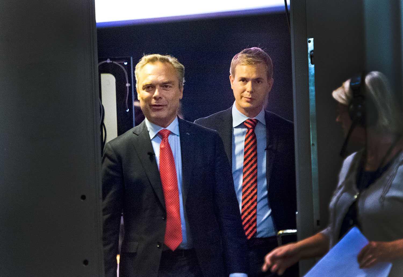 Kompromissvilliga, Jan Bjröklund och Gustav Fridolin.