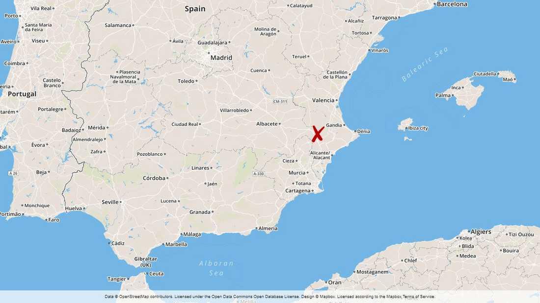 Översvämningar drabbar södra Valencia och norra Alicante.