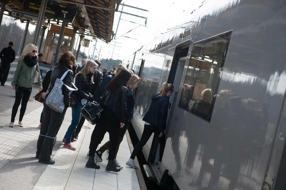Nu går tågtrafiken normalt. Arkivbild.