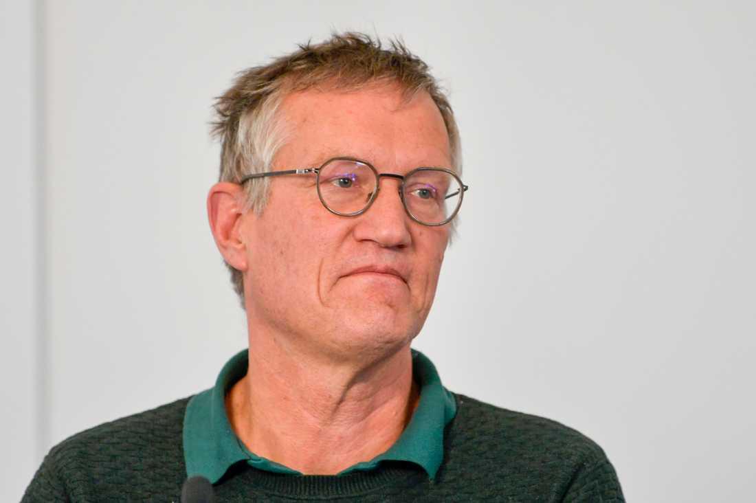 Anders Tegnell, statsepidemiolog Folkhälsomyndigheten, öppnar för fler undantag från besöksförbudet på äldreboenden. Arkivbild.