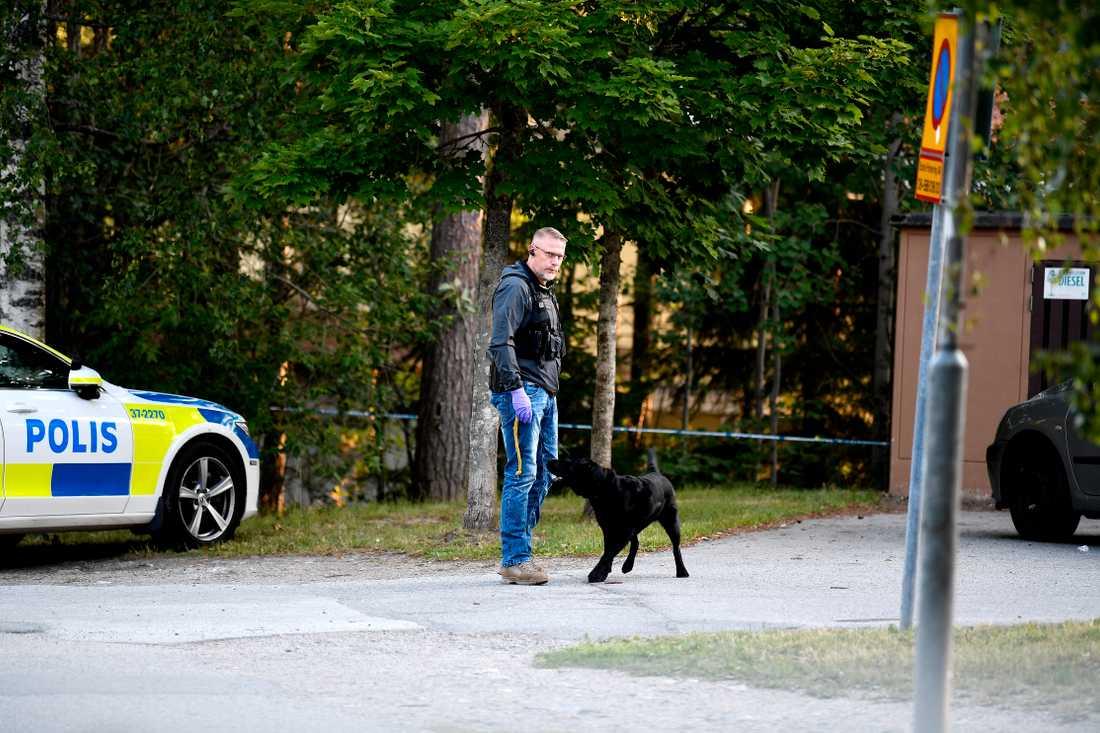 Polisen letar efter en eller flera gärningsmän.