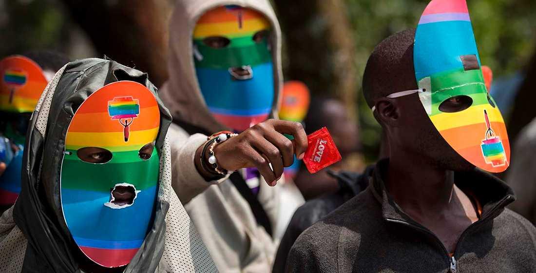 Maskerade hbt-aktivister i Uganda.