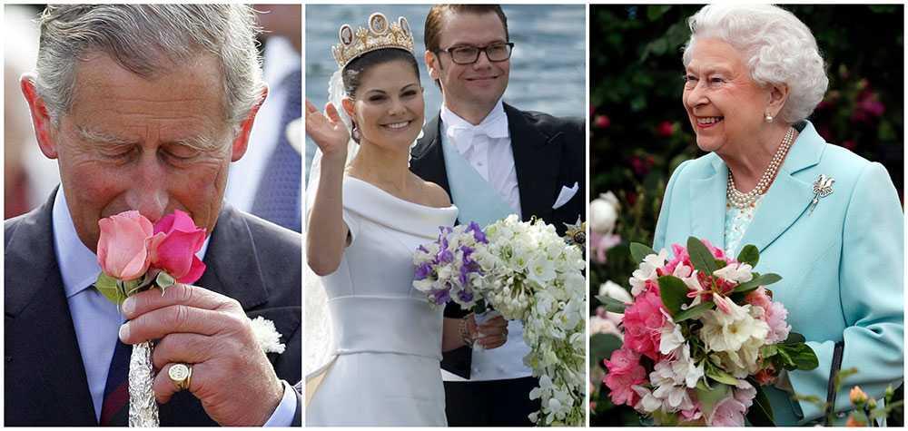 Prins Charles älskar riddarsporrar, men doftar gärna på en ros. Kronprinsessan Victoria älskar luktärt och drottning Elizabeths favoritblomma är liljekonvalj. Hon älskar att delta i planeringen av slottsparkerna. Hennes trädgårdsmästare Mark Lane vet exakt hur drottningen vill ha det. Han har varit kunglig trädgårdsmästare i 28 år och gav nyligen odlingstips på kungahusets officiella instagramkonto.