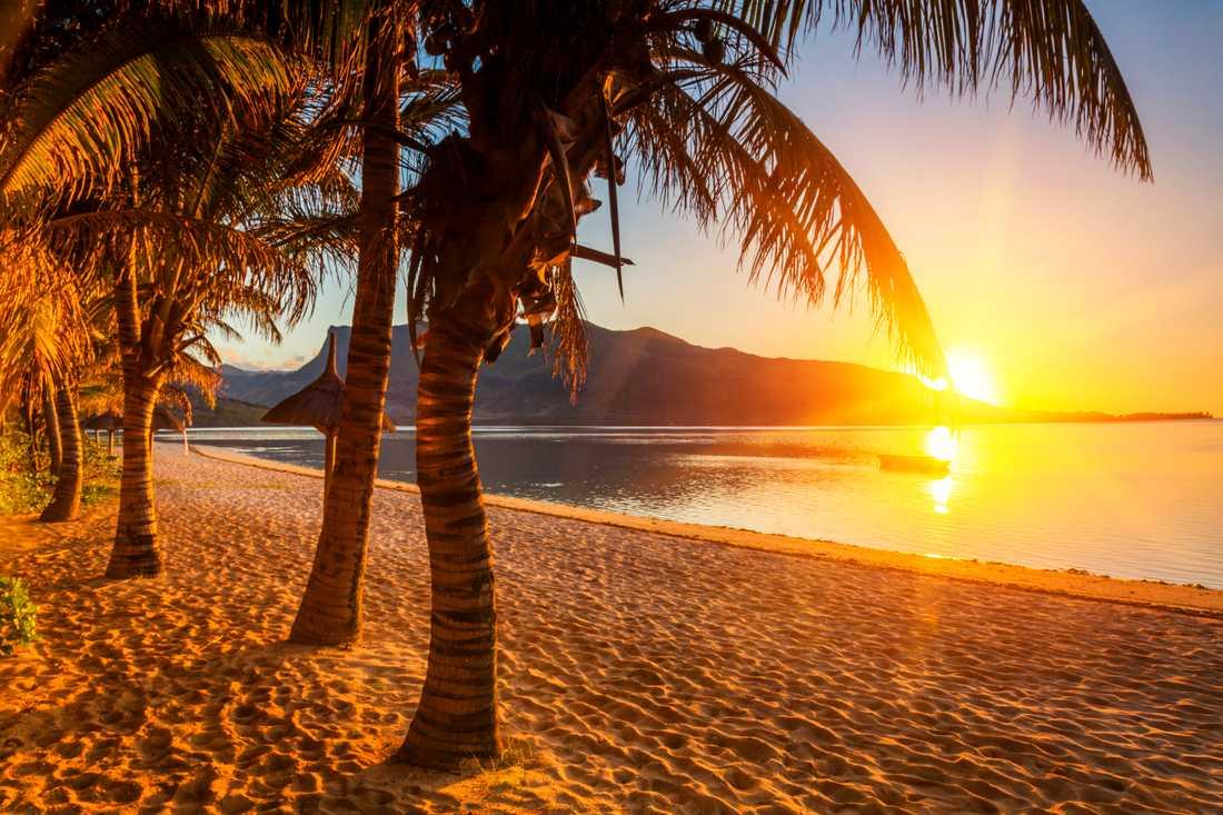 Stranghäng är en stor del av en semester på Mauritius.