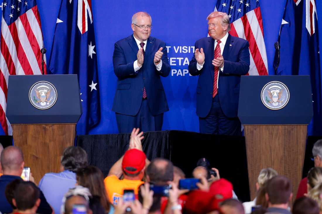 Donald Trump och Australiens premiärminister Scott Morrison.