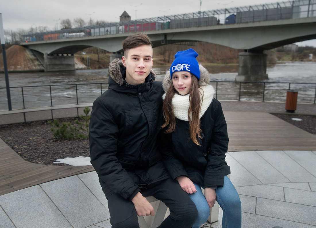 Andrey Smirnov, 16, och Anastasia Kuptseva, 15.