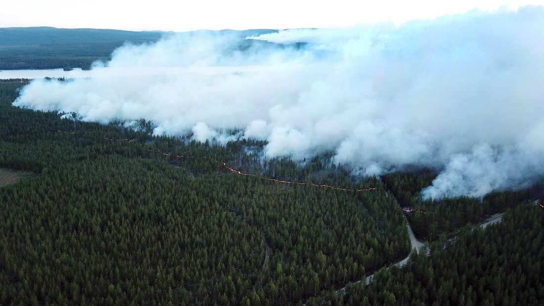Branden i Ängra och Kårböle i Hälsingland.